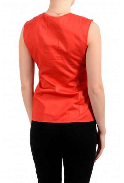 """Hugo Boss Women's """"Basenia"""" Red Sleeveless Blouse Top: Picture 2"""