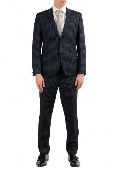 "Hugo Boss ""Astian/Hets"" Men's Plaid Wool Two Button Suit"