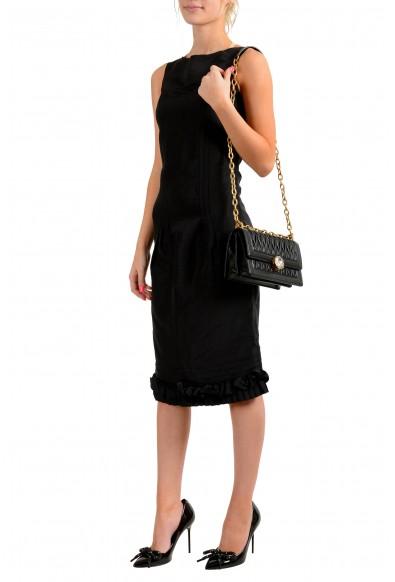 Miu Miu Women's 5BD130 Black Leather Chain Shoulder Bag: Picture 2