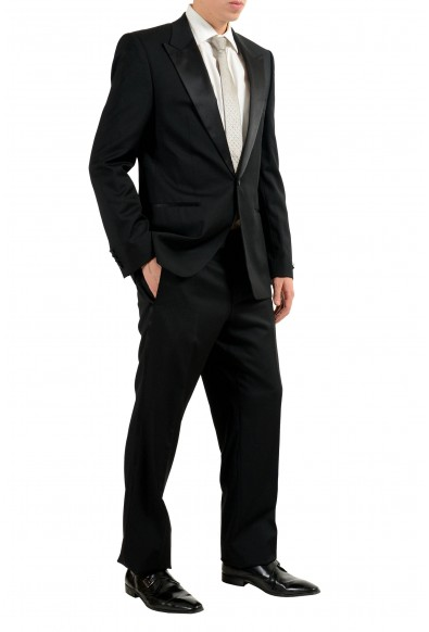 "Hugo Boss ""Caiden/GlamzUS"" Men's 100% Wool Black Tuxedo One Button Suit: Picture 2"