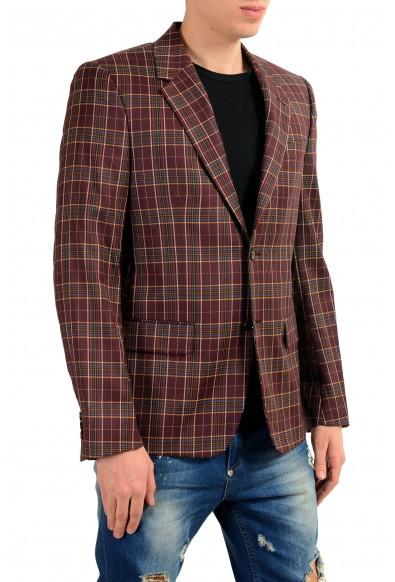 Alexander McQueen Men's 100% Wool Plaid Two Button Blazer Sport Coat: Picture 2