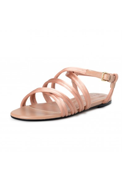 Marni Women's Pink Strappy Satin Leather Sandals Shoes