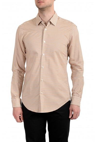 Hugo Boss Men's Ronni_53F Slim Fit Striped Long Sleeves Casual Shirt