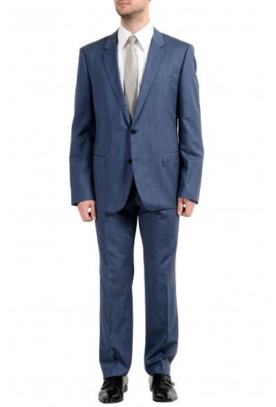 """Hugo Boss """"Henry/Griffin182"""" Men's 100% Wool Blue Slim Two Button Suit"""