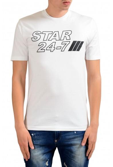 "Dsquared2 ""Star 24-7"" Men's White Crewneck Short Sleeve T-Shirt"