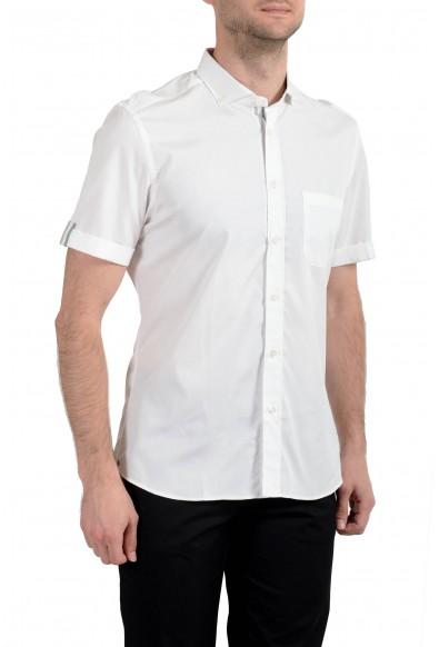 Malo Men's White Short Sleeve Dress Shirt : Picture 2
