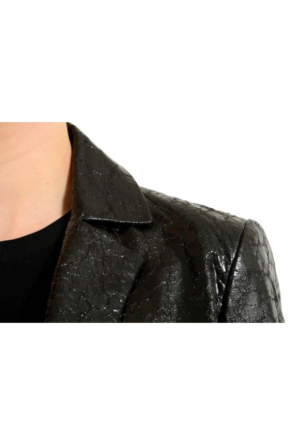 Gucci 100% Leather Black Double Breasted Women's Blazer: Picture 4