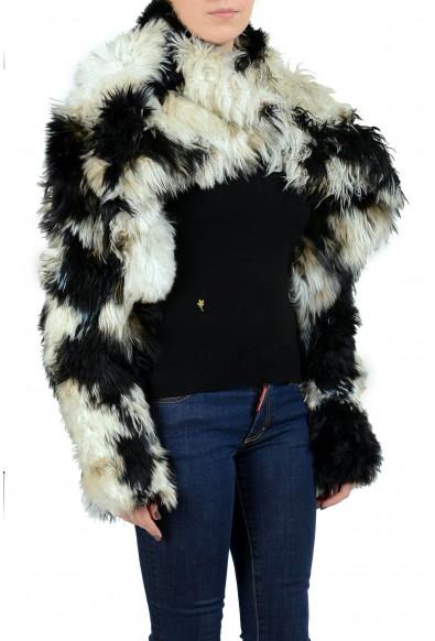 Just Cavalli Women's Alpaca Fur Wool Silk One Button Jacket : Picture 2