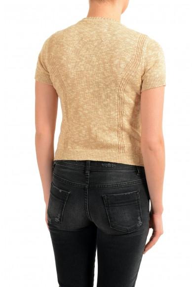 Maison Margiela Women's Beige Short Sleeve Knitted Top: Picture 2