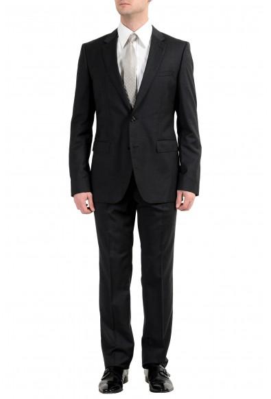 "Hugo Boss ""C-Jeffery/C-Simmons"" Men's 100% Wool Dark Gray Two Button Suit"