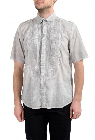 Dolce&Gabbana D&G Men's Faded Gray Short Sleeve Dress Shirt