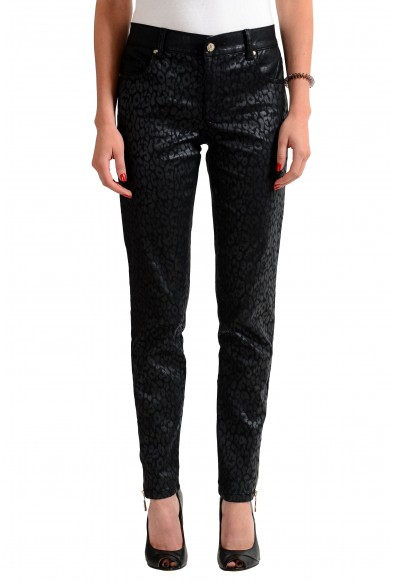 Versace Jeans Black Patterned Women's Slim Fit Jeans