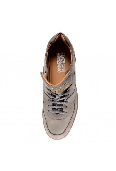 "Salvatore Ferragamo Men's ""MONROE"" Gray Nubuck Leather Fashion Sneakers Shoes: Picture 2"