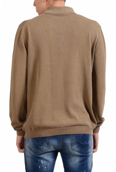 Malo Men's Tawny Brown Polo Light Sweater: Picture 2
