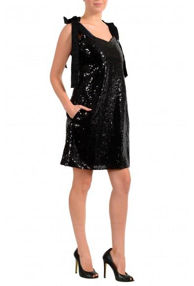 "Hugo Boss Women's ""Kistella"" Black Sparkle Sequins Embellished Mini Dress: Picture 2"