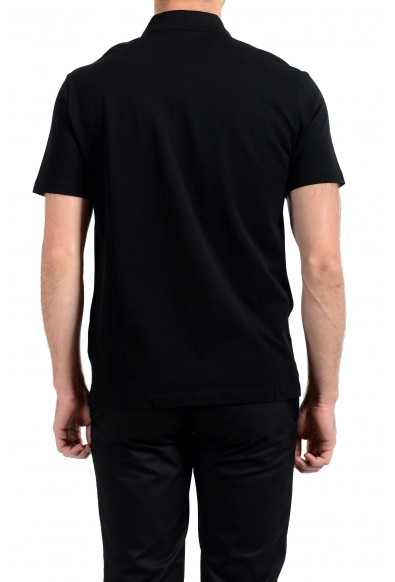 Versace Men's Black Logo Embroidered Short Sleeve Polo Shirt: Picture 2