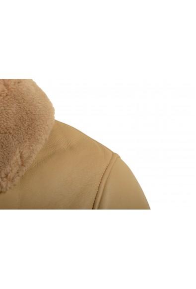"Hugo Boss Men's ""T-Cetlo"" 100% Leather Beige Shearling Bomber Jacket: Picture 2"