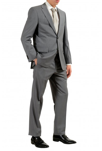 """Hugo Boss """"Paolini1/Movio1US"""" Men's 100% Wool Striped Gray Two Button Suit: Picture 2"""