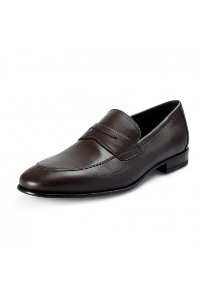 """A. Testoni Men's """"Alo"""" Brown Leather Loafers Slip On Shoes"""