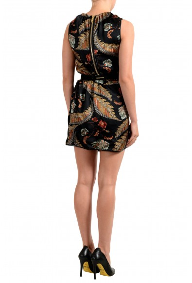 Dsquared2 Women's Floral Print 100% Silk Belted Sleeveless Dress: Picture 2