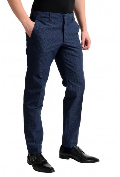 Prada Men's Dark Blue Flat Front Dress Pants: Picture 2