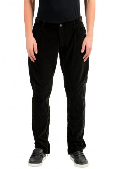 Dolce & Gabbana Men's Brown Velour Casual Pants