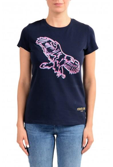 "Roberto Cavalli ""Sport"" Women's Blue Graphic Print Crewneck T-Shirt"