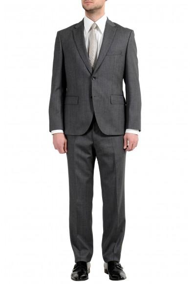 """Hugo Boss """"Johnstons3/Lenon1"""" Men's 100% Wool Gray Two Button Suit"""