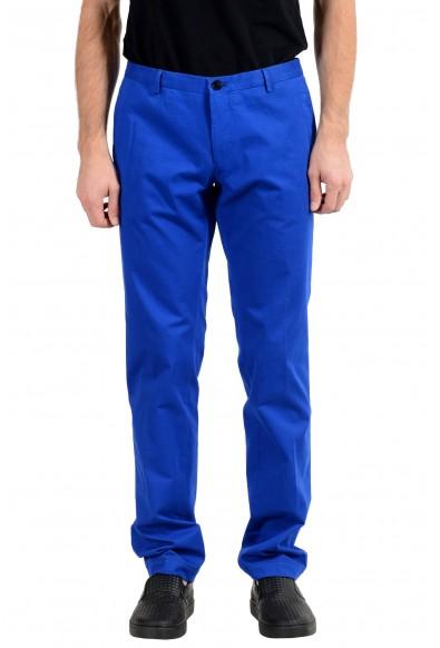 "Hugo Boss ""Gerald182W"" Men's Blue Slim Stretch Casual Pants"