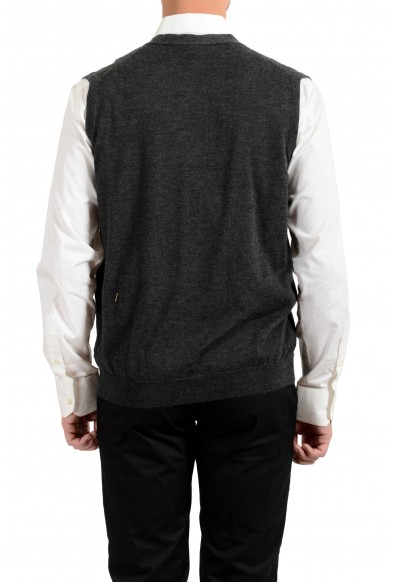 Kiton Men's Gray Silk Cashmere Sleeveless Cardigan Sweater : Picture 2