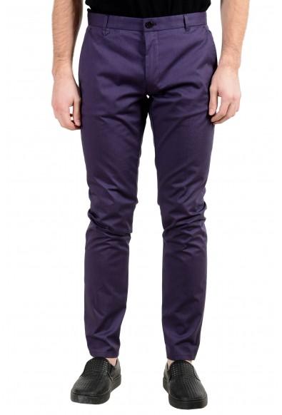 "Hugo Boss ""Heldor2"" Men's Purple Stretch Casual Pants"