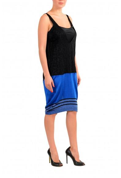 Just Cavalli Women's Black Deep V-Neck Sleeveless Knitted Dress : Picture 2