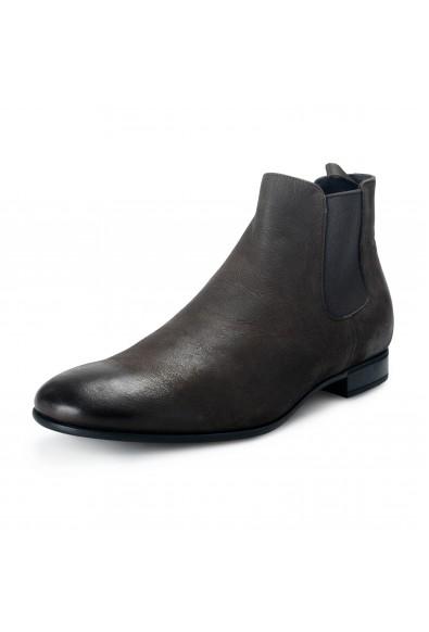"Prada Men's ""Carpa Antic"" Brown Leather Chelsea Boots Shoes"