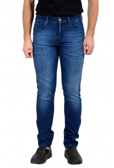 "Hugo Boss Men's ""Charleston4"" Extra Slim Fit Blue Wash Stretch Jeans"