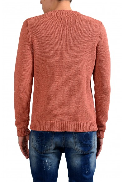 Malo Men's Peach Silk Cashmere Crewneck Heavy Knitted Sweater: Picture 2
