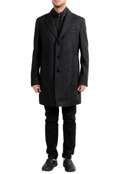 "Hugo Boss ""Nadim4"" Men's Wool Slim Three Button Coat With Detachable Inner"