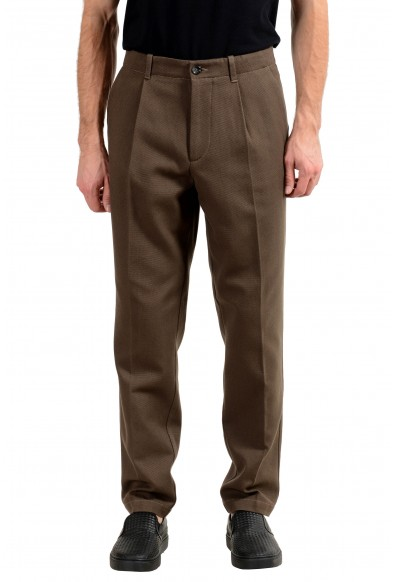 "Hugo Boss ""Kirio1-Pleats"" Men's Olive Green Casual Pants"