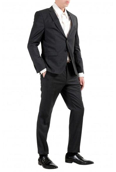 "Hugo Boss ""Reymond/Wenten"" Men's 100% Wool Plaid Dark Gray Two Button Suit: Picture 2"