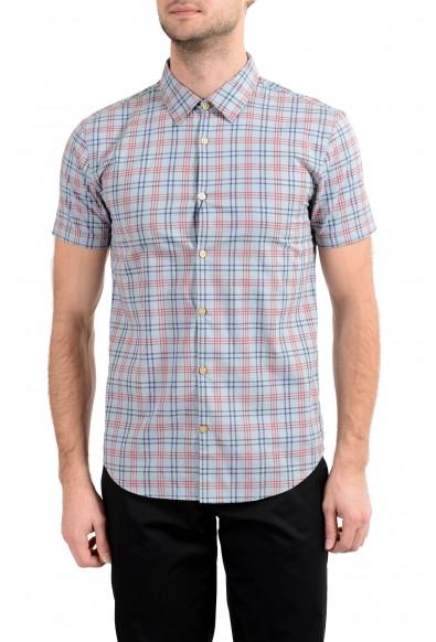 John Varvatos Multi-Color Checkered Short Sleeve Men's Casual Shirt