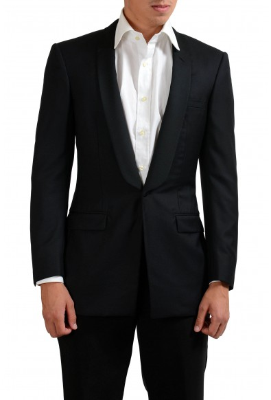 Gianni Versace Couture 100% Wool Men's Black One Button Blazer