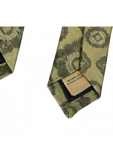 Burberry Men's 100% Silk Dark Green Jacquard Tie: Picture 2