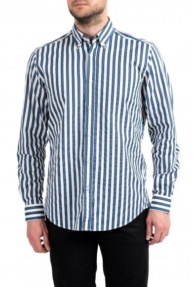 "Hugo Boss ""Lod"" Men's Stretch Striped Long Sleeve Casual Shirt"