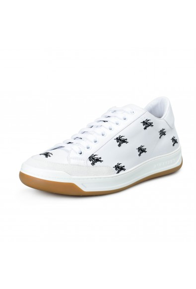 Burberry London Men's TIMSBURY White Leather Fashion Sneakers Shoes