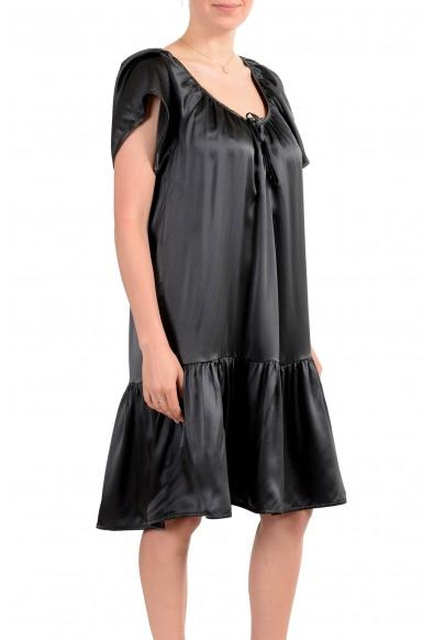 John Galliano Women's Gray 100% Silk Flare Dress: Picture 2