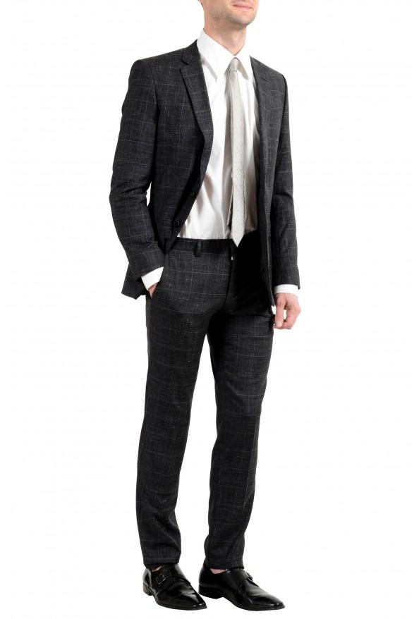 """Hugo Boss """"Huge6/Genius5"""" Men's Linen Silk Wool Slim Fit Gray Two Button Suit: Picture 10"""