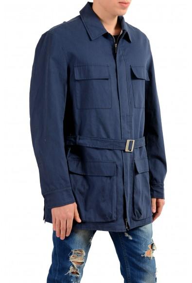 Malo Navy Full Zip Men's Basic Coat : Picture 2