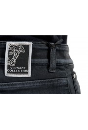 Versace Collection Men's Gray Slim Jeans: Picture 6