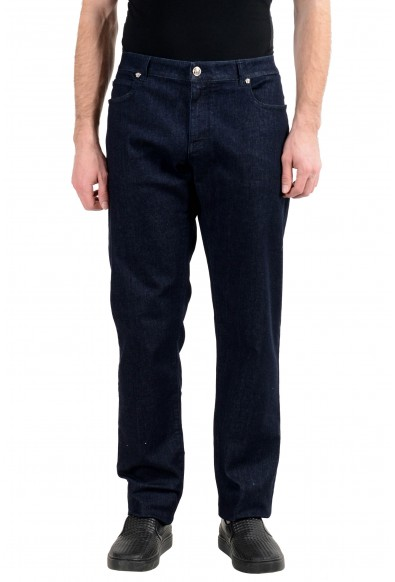 Versace Men's Dark Blue Stretch Slim Jeans