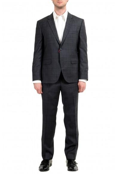 "Hugo Boss ""C-Jeffery/C-Simmons"" Men's Wool Plaid Gray Two Button Suit"