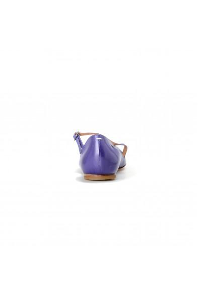 Maison Margiela Women's Purple 100% Leather Ballet Flats Shoes: Picture 2